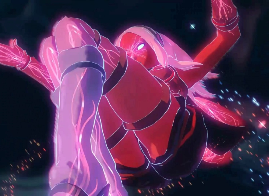 gravitypower-gravityrush2-kat-red-animegirl-powerful-red-playstation-ps4